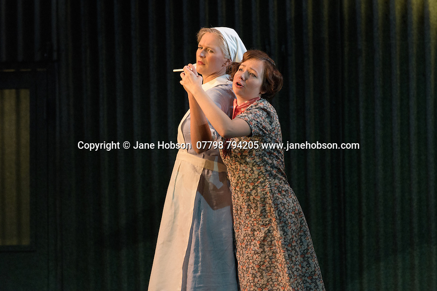 English Touring Opera presents XERXES, by George Frideric Handel, at the Hackney Empire, prior to setting off on a UK tour. Picture shows: Laura Mithcell (Romilda), Galina Averina (Atalanta)