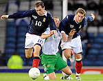 20TH AUG 2008, SCOTLAND V NORTHERN IRELAND, HAMPDEN PARK, GLASGOW, JAMES MCFADDEN AND KEVIN THOMPSON IN ACTION, ROB CASEY PHOTOGRAPHY.