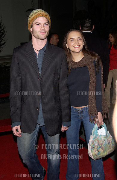 Actress RACHAEL LEIGH COOK & fiance DANIEL GILLIES at the world premiere, in Hollywood, of Mean Girls..April 19, 2004