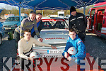 3084-3086.PIT STOP: Kilcummin rally team of Damian Doolan (driver), Johnny Doolan, Sean McCarthy, Pat Looney and Andrew Ryan (navigator) at the start of the Circuit of Kerry car rally last Sunday morning based at the Carlton Hotel Tralee.