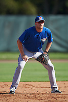 Toronto Blue Jays third baseman Mitch Nay (61) during an Instructional League game against the Philadelphia Phillies on October 1, 2016 at the Carpenter Complex in Clearwater, Florida.  (Mike Janes/Four Seam Images)