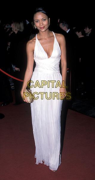 THANDIE NEWTON.Orange British Academy of Film and Television Awards 2003.BAFTA, white dress, halterneck.Ref: AH.www.capitalpictures.com.sales@capitalpictures.com.©Capital Pictures