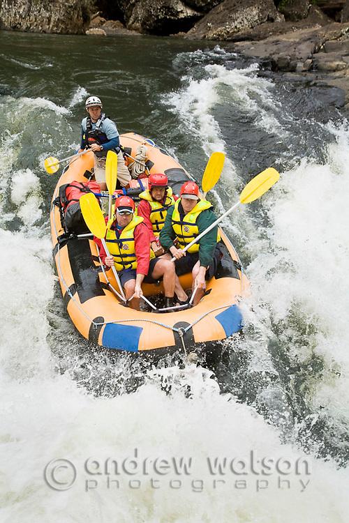 White water rafting on the North Johnstone River, Wooroonoonan National Park, Queensland, Australia