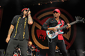 WEST PALM BEACH, FL - OCTOBER 02: B-Real and Tom Morello of Prophets of Rage perform at The Perfect Vodka Amphitheater on October 2, 2016 in West Palm Beach Florida. Credit Larry Marano © 2016