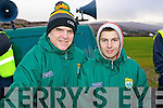 John and Dara O'Connell (West Limerick) enjoying the McGrath Cup semi-final, Kerry v CIT on Sunday last.