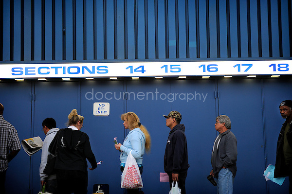 Thirteen hours is the average time for each patients to wait and get seen by one of the 3 main services that RAM offers - vision, medical and dental...copyright : Magali Corouge/Documentography..August 2009, Los Angeles, USA...