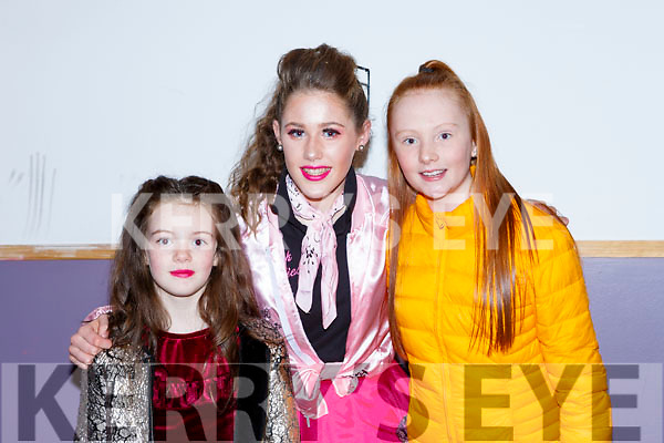 Rhea Kate Devane, Aimee Sexton and Ava McCrohan at the Pink Night Womens Christmas in Kilcummin on Saturday night