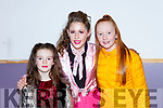 Rhea Kate Devane, Aimee Sexton and Ava McCrohan at the Pink Night Womens Christmas in Kilcummin on Saturday night