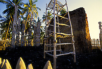 Historical Puuhonua Honaunau or City of Refuge,  an ancient Native Hawaiian temple, is a major tourist attraction on the Big Island of Hawaii.