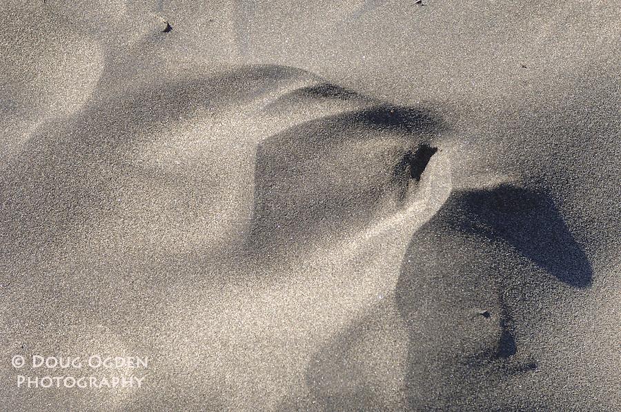 Wind blown sand.