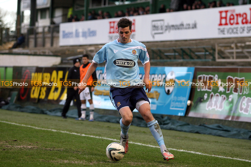 Ben Strevens of Dagenham - Plymouth Argyle vs Dagenham and Redbridge at the Home Park Stadium - 02/02/13 - MANDATORY CREDIT: Dave Simpson/TGSPHOTO - Self billing applies where appropriate - 0845 094 6026 - contact@tgsphoto.co.uk - NO UNPAID USE.
