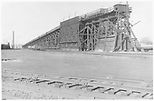 View of D&amp;RGW Alamosa coaling trestle from the southeast.<br /> D&amp;RGW  Alamosa, CO  Taken by Richardson, Robert W. - 1955