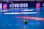 TVB1898 Handball auf Spielfeld beim Spiel in der Handball Bundesliga, TVB 1898 Stuttgart - Die Eulen Ludwigshafen.<br /> <br /> Foto &copy; PIX-Sportfotos *** Foto ist honorarpflichtig! *** Auf Anfrage in hoeherer Qualitaet/Aufloesung. Belegexemplar erbeten. Veroeffentlichung ausschliesslich fuer journalistisch-publizistische Zwecke. For editorial use only.