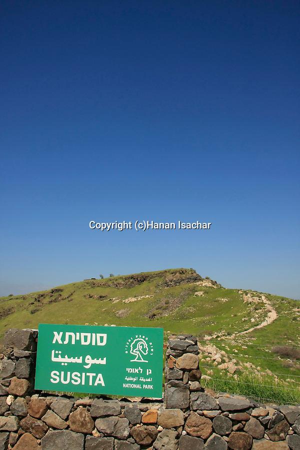 Golan Heights. Susita national park