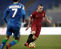 Calcio, Serie A: AS Roma - Sassuolo, Roma, stadio Olimpico, 30 dicembre 2017.<br /> Roma's Radja Nainggolan in action during the Italian Serie A football match between AS Roma and Sassuolo at Rome's Olympic stadium, 30 December 2017.<br /> UPDATE IMAGES PRESS/Isabella Bonotto