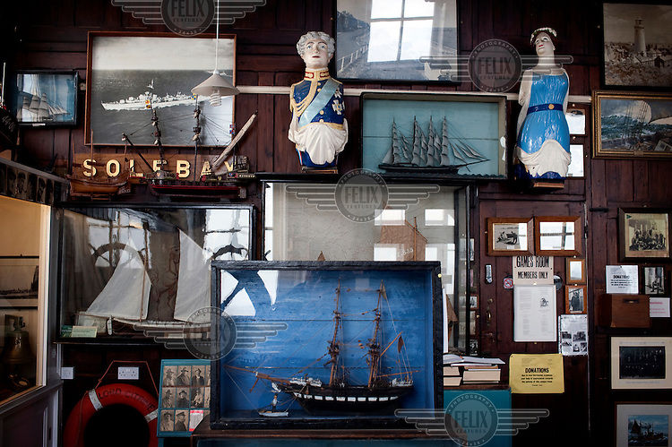The Sailors' Reading Room in Southwold, Suffolk, built in 1864 in memory of Captain Rayley, a Naval Officer at the time of the Battle of Trafalgar who had died in 1863. It is now a registered charity hosting a museum and social club. ..
