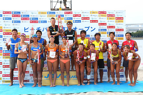 General View,<br /> SEPTEMBER 21, 2015 - Beach Volleyball : <br /> JBV Tour 2015 Tokyo Open Award Ceremony<br /> at Odaiba Beach, Tokyo, Japan.<br /> (Photo by Shingo Ito/AFLO SPORT)