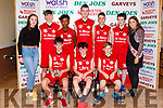 The St Marys team that played in the U14 Boys  final at the St Mary's Basketball blitz in Castleisland on Sunday front row l-r: Ruairi Burke, Patrick O'Shea, Gerard Brosnan. Back row: Leanne O'Connor,Thomas Conway, Mint O'Connor, Brian O'Leary, Jack Griffin Colm McAulliffe and Shauna Ahern Miss Basketball