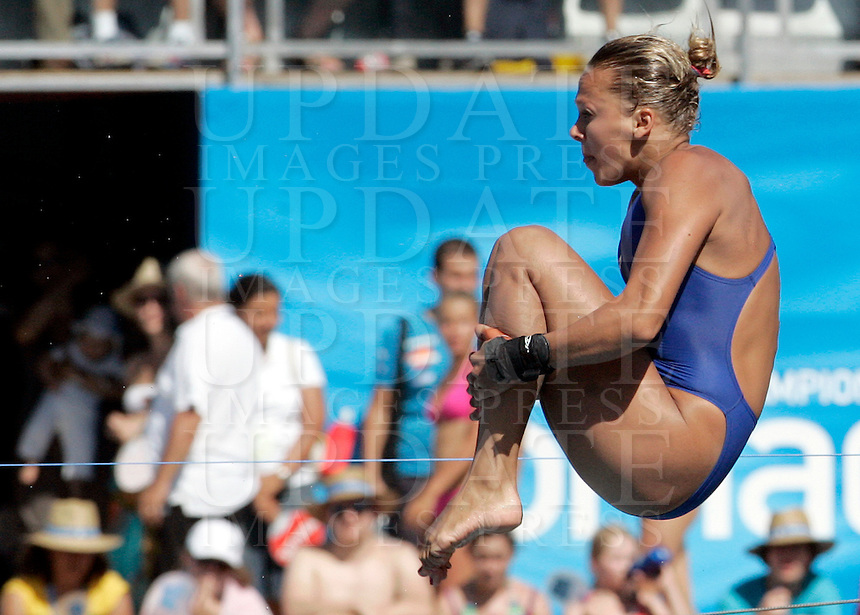 Britain's Tania Couch competes in the women's 10m platform diving finals at the Swimming World Championships in Rome, 18 July 2009..UPDATE IMAGES PRESS/Riccardo De Luca