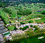 Aerial view of the LPGA Golf Tournament, at the Dupont Country Club in Wilmington, DE
