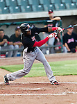 El Paso Diablos Right Fielder Nelson Teilon (17) in action during the American Association of Independant Professional Baseball game between the El Paso Diablos and the Fort Worth Cats at the historic LaGrave Baseball Field in Fort Worth, Tx. El Paso defeats Fort Worth 6 to 1.