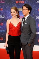LONDON, ENGLAND - SEPTEMBER 13:  Emma Stone and Cary Fukunaga attending the World premiere of the new Netflix series 'Maniac' at Southbank Centre on September 13, 2018 in London, England.<br /> CAP/MAR<br /> &copy;MAR/Capital Pictures