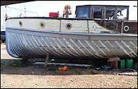 BNPS.co.uk (01202 558833)<br /> Pic: RichardAshanolla/BNPS<br /> <br /> During her restoration in 2017.<br /> <br /> A couple who spent &pound;3,000 saving an historic 'little' ship that served in and survived three wars are now set to sell it for &pound;160,000.<br /> <br /> Arron and Tina French found the 40ft Caretta in a run-down and rotten state in a marina where it had languished for almost 20 years.<br /> <br /> They bought it for &pound;2,200 and remarkably spent &pound;1,000 and four months restoring it to its former 19th century glory.<br /> <br /> They have now decided to sell it and although it has been given a pre-sale estimate of &pound;60,000, they have been told the historic vessel could go for almost three times that figure.