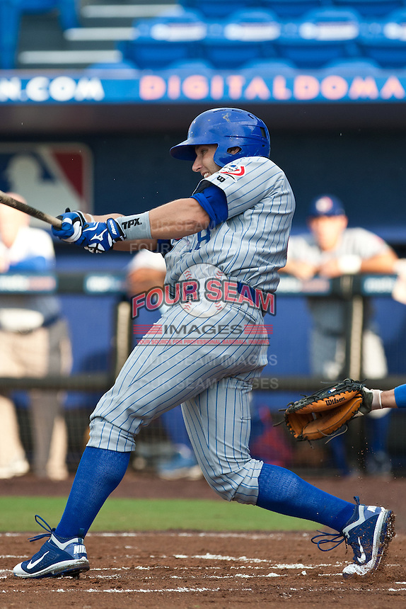 Greg Rohan #18 of the Daytona Cubs during game 3 of the Florida State League Championship Series against the St. Lucie Mets at Digital Domain Park on Spetember 11, 2011 in Port St. Lucie, Florida. Daytona won the game 4-2 to win the Florida State League Championship.  Photo by Scott Jontes / Four Seam Images