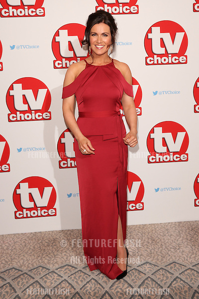 Susanna Reid at The TVChoice Awards 2016 at the Dorchester Hotel, London. <br /> September 5, 2016  London, UK<br /> Picture: James Smith / Featureflash