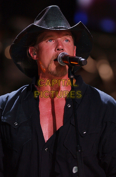 TRACE ADKINS.2007 CMA Music Festival held at LP Field, Nashville, Tennessee, USA..June 7th, 2007.headshot portrait stage concert live gig performance music black stetson hat singing .CAP/ADM/GS.©George Shepherd/AdMedia/Capital Pictures
