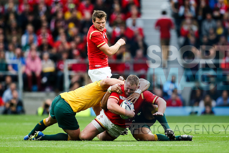 Wales' Samson Lee - Rugby World Cup 2015 - Pool A - Australia v Wales - Twickenham Stadium - London- England - 10th October 2015 - Picture Charlie Forgham Bailey/Sportimage