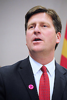 Phoenix, Arizona -- City of Phoenix Mayor Greg Stanton speaks during a press conference at the City Hall building. Photo by Eduardo Barraza © 2015