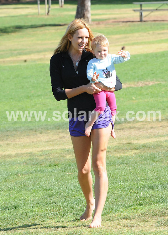 **ALL ROUND EXCLUSIVE PICTURES FROM SOLARPIX.COM**.**SYNDICATION RIGHTS FOR UK AND SPAIN ONLY**.True Blood actress and Playboy cover star Natasha Alam with her adorable daughter enjoying a day in the park. Alam looked as hot as ever just having as she spent some quality time with her daughter. Los Angeles, California, USA. 19 August 2010..This pic: Natasha Alam..JOB REF: 11946 STL        DATE: 19_08_2010.**MUST CREDIT SOLARPIX.COM OR DOUBLE FEE WILL BE CHARGED**.**MUST NOTIFY SOLARPIX OF ONLINE USAGE**.**CALL US ON: +34 952 811 768 or LOW RATE FROM UK 0844 617 7637**