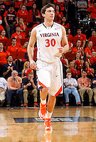 Virginia guard Thomas Rogers (30) during an NCAA basketball game Saturday Feb, 24, 2014 in Charlottesville, VA. Virginia defeated Miami 65-40.