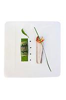 Europe/France/Rhône-Alpes/73/Savoie/Jongieux; Filet de féra du Léman, canneloni de Poisson et agastache recette de Michaël Arnoult : Restaurant: Les Morainières