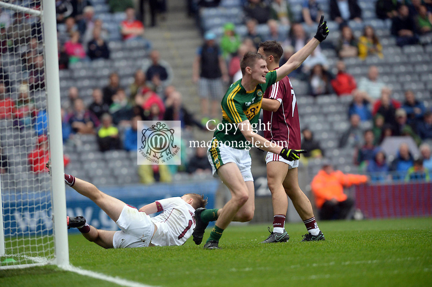 Diarmuid O'Connor scores Kerry first goal in the All-Ireland Minor final at Croke on Sunday.<br /> Photo: Don MacMonagle