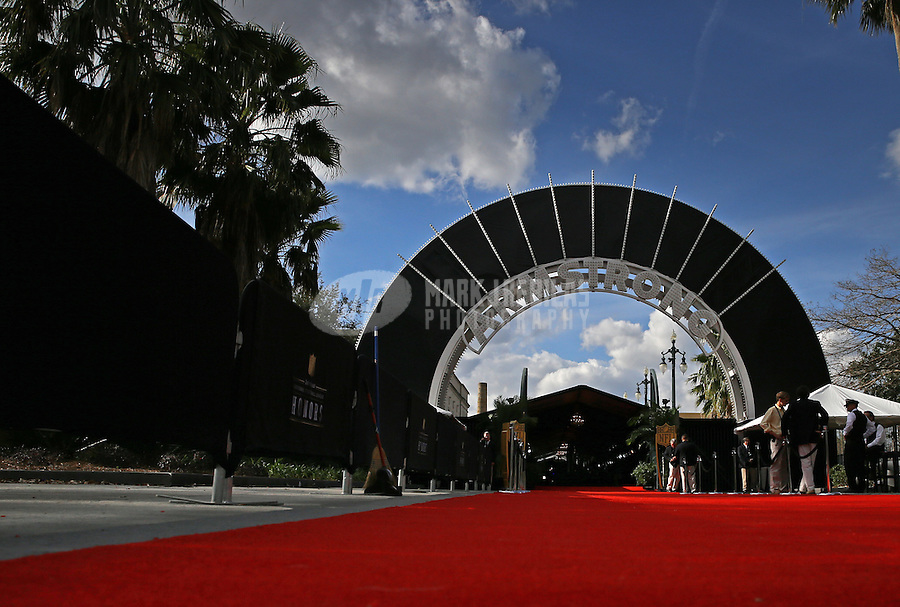 Feb. 2, 2013; New Orleans, LA, USA: Overall view of the red carpet prior to the Super Bowl XLVII NFL Honors award show at the Mahalia Jackson Theater. Mandatory Credit: Mark J. Rebilas-USA TODAY Sports