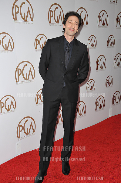 Adrien Brody at the 26th Annual Producers Guild Awards at the Hyatt Regency Century Plaza Hotel.<br /> January 24, 2015  Los Angeles, CA<br /> Picture: Paul Smith / Featureflash