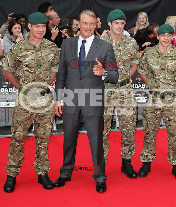 LONDON - AUGUST 13: Dolph Lundgren attended the UK Film Premiere of 'The Expendables 2', Leicester Square, London, UK. August 13, 2012. (Photo by Richard Goldschmidt) /NortePhoto.com<br /> <br />  **CREDITO*OBLIGATORIO** *No*Venta*A*Terceros*<br /> *No*Sale*So*third* ***No*Se*Permite*Hacer Archivo***No*Sale*So*third*