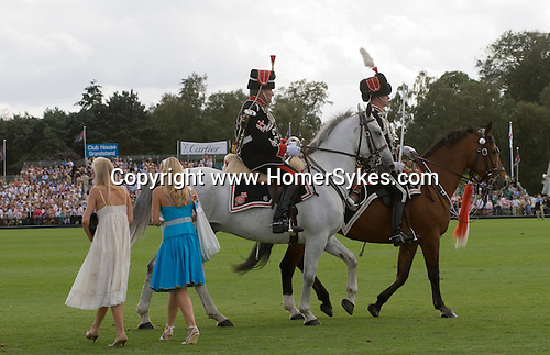 Cartier International Polo at the Guards Club, Smiths Lawn, Windsor Great park, Egham, Surrey, England 2006. Honourable Artillery Company parade through arena.