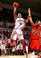 STANFORD, CA - JANUARY 13: Bethany Donaphin of the Stanford Cardinal during Stanford's 78-58 win over the Oregon State Beavers on January 13, 2000 at Maples Pavilion in Stanford, California.