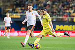 Jaume Vicent Costa Jordá (r) of Villarreal CF competes for the ball with Alvaro Medran of Valencia CF during their La Liga match between Villarreal CF and Valencia CF at the Estadio de la Cerámica on 21 January 2017 in Villarreal, Spain. Photo by Maria Jose Segovia Carmona / Power Sport Images