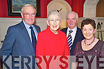 Jimmy and Mary Doyle with John and Ann Coffey enjoying the Heartbeat dinner in the Killarney Park Hotel on Thursday night.