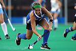 17 October 2014: Duke's Sarah Furey. The Duke University Blue Devils hosted the University of North Carolina Tar Heels at Jack Katz Stadium in Durham, North Carolina in a 2014 NCAA Division I Field Hockey match. UNC won the game 1-0.