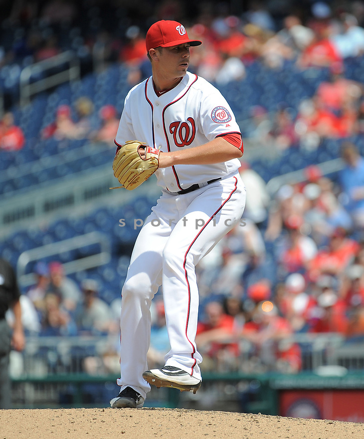 Washington Nationals Blake Treinen (45) during a game against the Philadelphia Phillies on June 11, 2016 at Nationals Park in Washington, DC. The Nationals beat the Phillies 8-0.