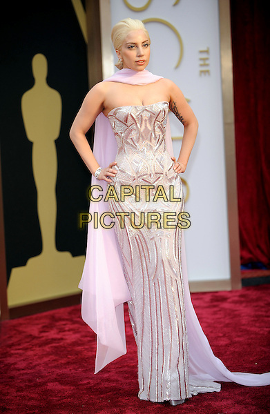 HOLLYWOOD, CA - MARCH 2: Lady Gaga arriving to the 2014 Oscars at the Hollywood and Highland Center in Hollywood, California. March 2, 2014. <br /> CAP/MPI/COR<br /> &copy;Corredor99/ MediaPunch/Capital Pictures