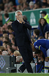 Alan Pardew manager of Crystal Palace reacts to a missed chance during the Premier League match at Goodison Park Stadium, Liverpool. Picture date: September 30th, 2016. Pic Simon Bellis/Sportimage