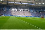 15.04.2018, VELTINS Arena, Gelsenkirchen, Deutschland, GER, 1. FBL, FC Schalke 04 vs. Borussia Dortmund, im Bild Choreographie Fanblock / Fans Schalke / Nordkurve / Feature<br /> <br /> Foto &copy; nordphoto / Kurth