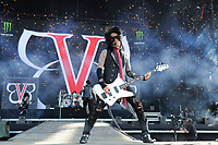 DERBY, ENGLAND - JUNE 10: Ashley Purdy of 'Black Veil Brides ' performing at Download Festival, Donington Park on June 10, 2018 in Derby.<br /> CAP/MAR<br /> &copy;MAR/Capital Pictures