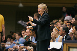 06 February 2012: UNC head coach Sylvia Hatchell. The Duke University Blue Devils defeated the University of North Carolina Tar Heels 96-56 at Cameron Indoor Stadium in Durham, North Carolina in an NCAA Division I Women's basketball game.